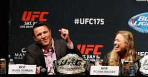 "MMA: Chael Sonnen: ""I would have kicked Ronda Rousey's ass right out of the [ESPN] set"" - Ronda Rousey"