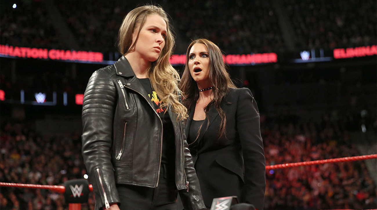 WWE: Ronda Rousey and Kurt Angle to face Triple H and Stephanie McMahon at WrestleMania 34 - Ronda Rousey