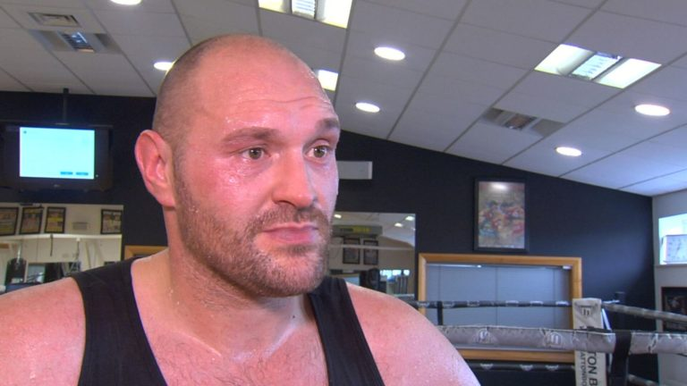 Boxing: Tyson Fury Challenges Anthony Joshua Outside The Ring(VIDEO)