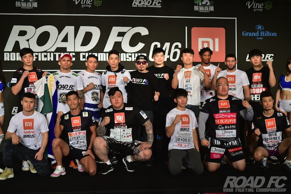 XIAOMI ROAD FC 046 OFFICIAL WEIGH IN RESULTS - xiaomi