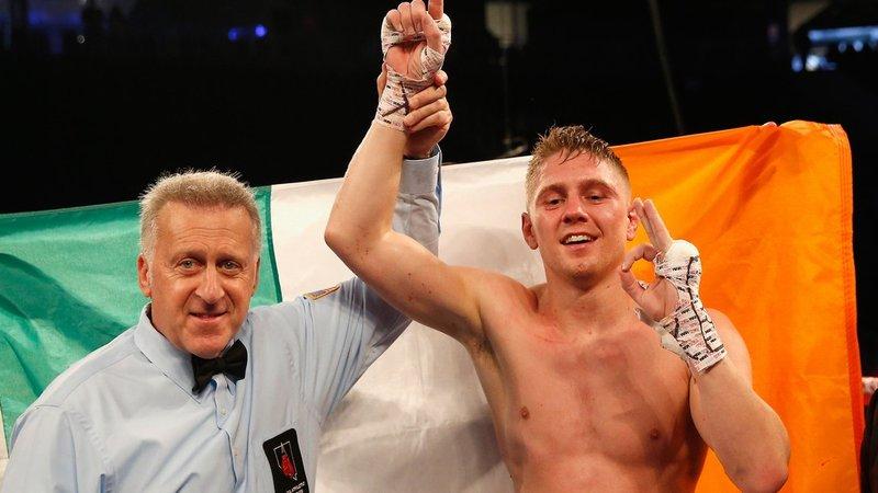 Boxing: Mark Deluca stops Ramses Agaton in the seventh round via Bodyshot - Deluca