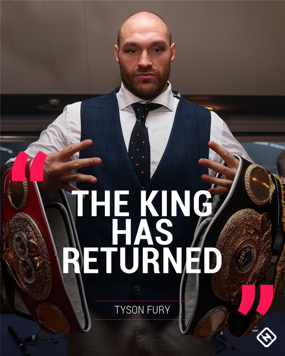 Boxing: Tyson Fury is BACK - Fury