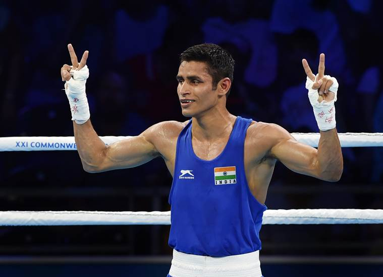Boxing: Gaurav Solanki wins Gold for India in Commonwealth Games - Solanki