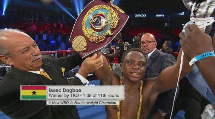Boxing: Isaac Dogboe beats Jessie Magdaleno to win the WBO Super-Bantamweight title - Magdaleno
