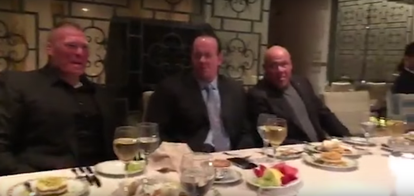WWE: The Undertaker, Kurt Angle, Brock Lesnar and other big names have dinner together - The Undertaker
