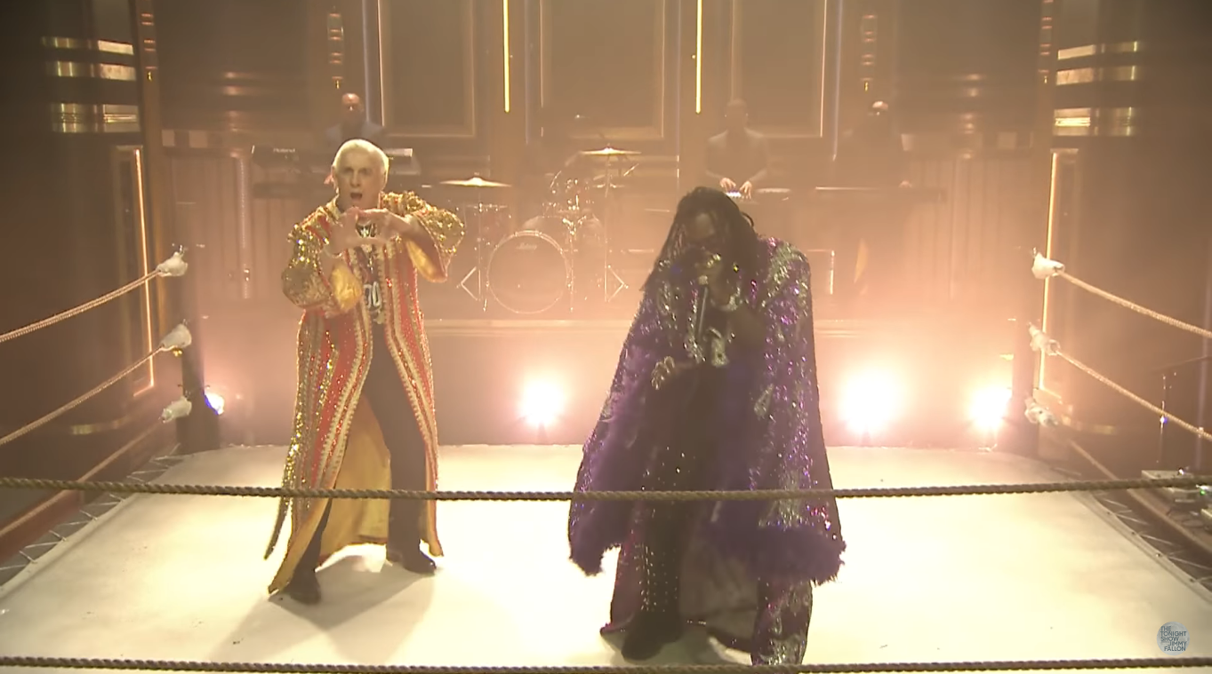 WWE: Ric Flair appears on the Tonight Show for Offset's new song - Ric Flair