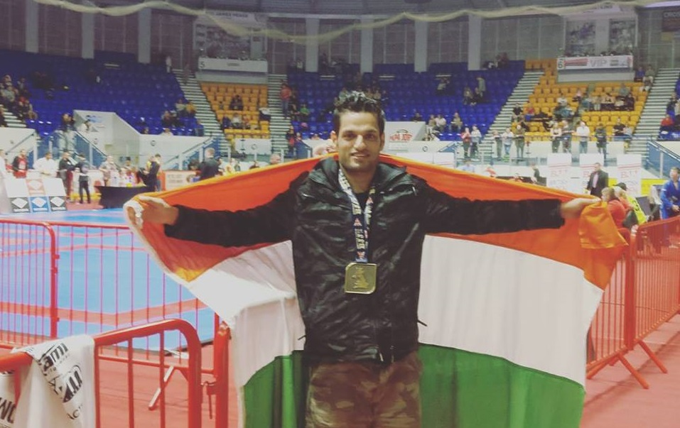 BJJ: Siddharth Singh flies the Indian flag high in Britain, Wins gold medal at Manchester Open - Siddharth Singh