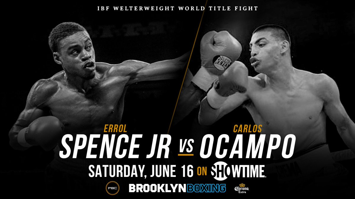 Boxing: Errol Spence to defend his IBF welterweight title vs Carlos OCampo on June16th - Spence