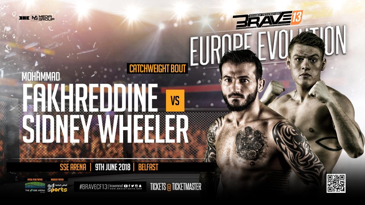Fakhreddine returns against American Sidney Wheeler at Brave 13 -