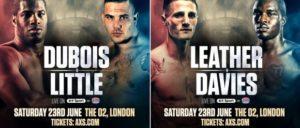 Boxing: Dubois V Little and Leather V Davies confirmed for June 23 - Heavyweight