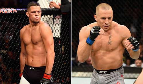 UFC: Dana White says Nate Diaz vs Georges St-Pierre at 155 pounds in the works for UFC 227 - Dana White