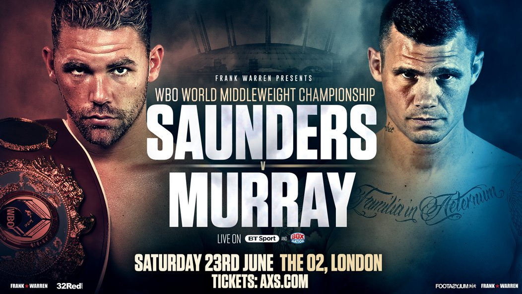 Boxing: Billy Joe Saunders vs Martin Murray fight is OFF - Saunders