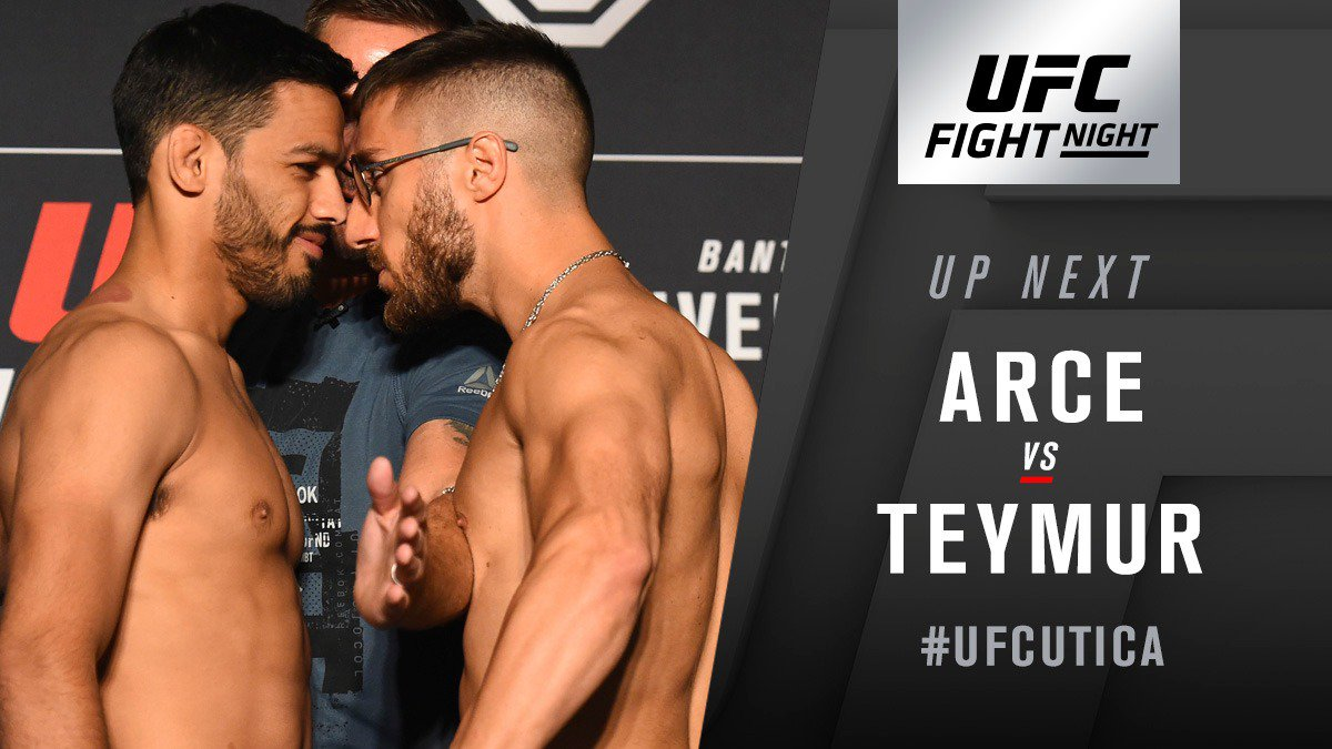 UFC Fight Night 131 Results - Julio Arce Submits Daniel Teymur in Third Round -