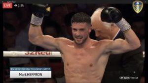 Boxing: Mark Heffron wins the WBC international Title - Heffron