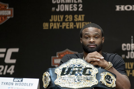 UFC: Tyron Woodley responds to Colby Covington's sister, says she tried to slide into his DMs - Tyron Woodley