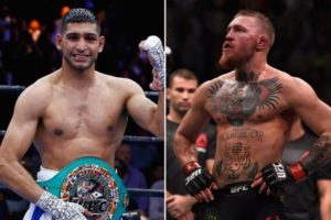UFC: Conor McGregor and Amir Khan size up each other in Belfast - amir khan