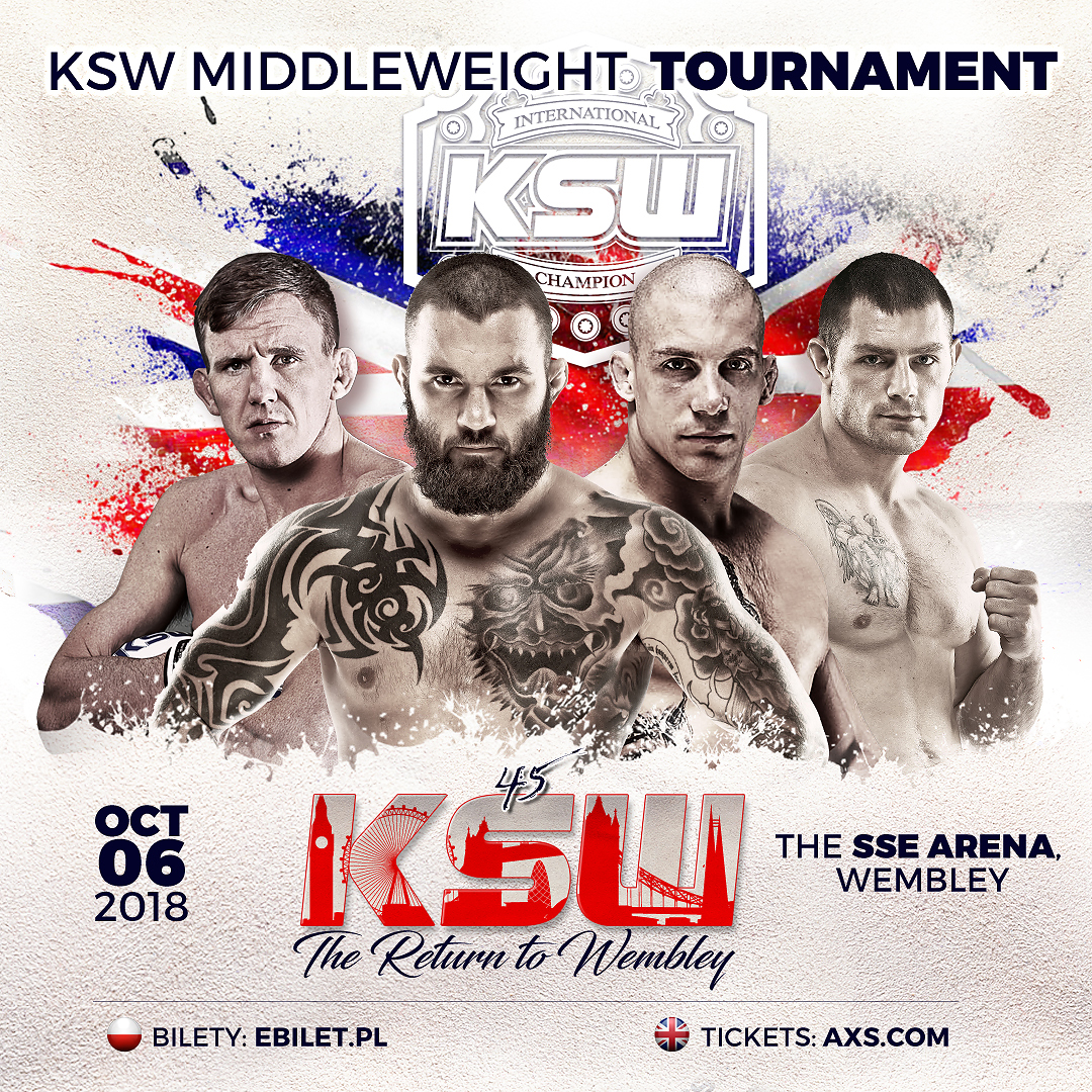 Four-Man Tournament to Crown New Middleweight Champion - KSW MMA Middleweight Champion