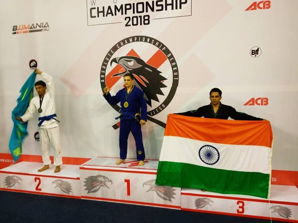 Indian BJJ News: Rajiv Khati wins bronze medal at ACBJJ World Championships in Moscow - Rajiv Khati