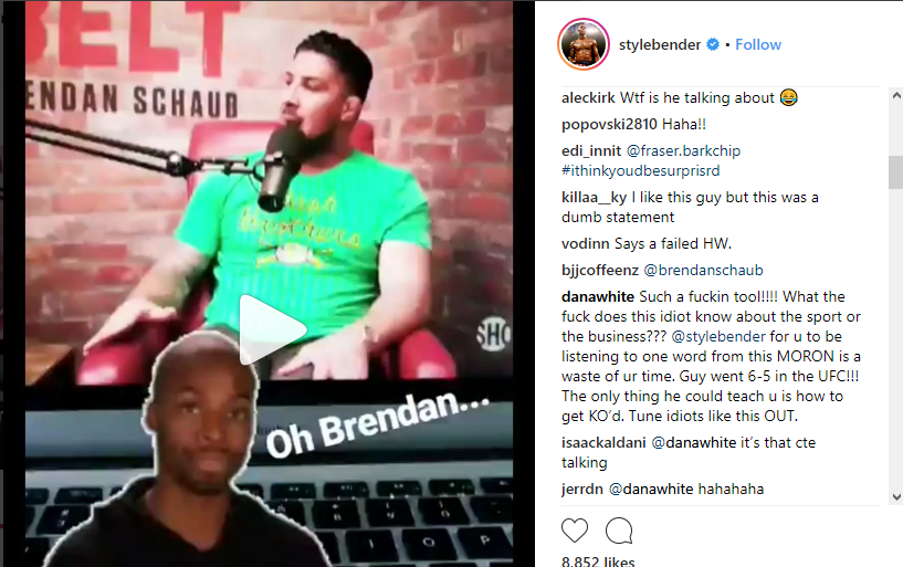 UFC: Brendan Schaub and Dana White get into War of Words on Social Media - Israel