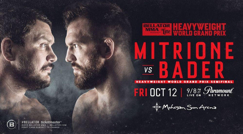 Bellator: Ryan Bader vs Matt Mitrione set for October 12 - Ryan