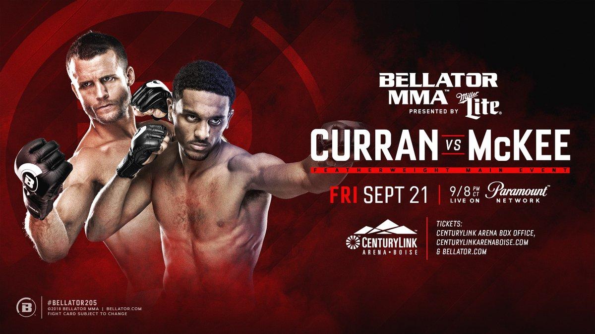 MMA: A.J McKee vs. Pat Curran set to headline Bellator 205 - McKee