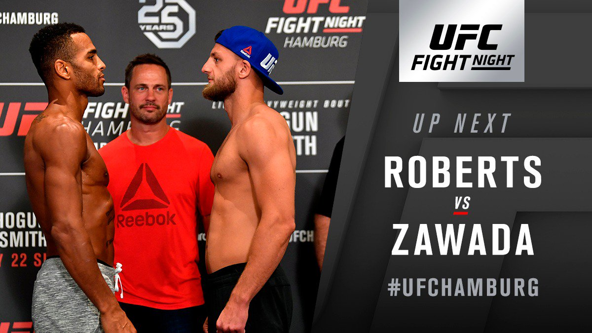 UFC Fight Night 134 Results - Danny Roberts Wins a Close Fight Over Zawada -
