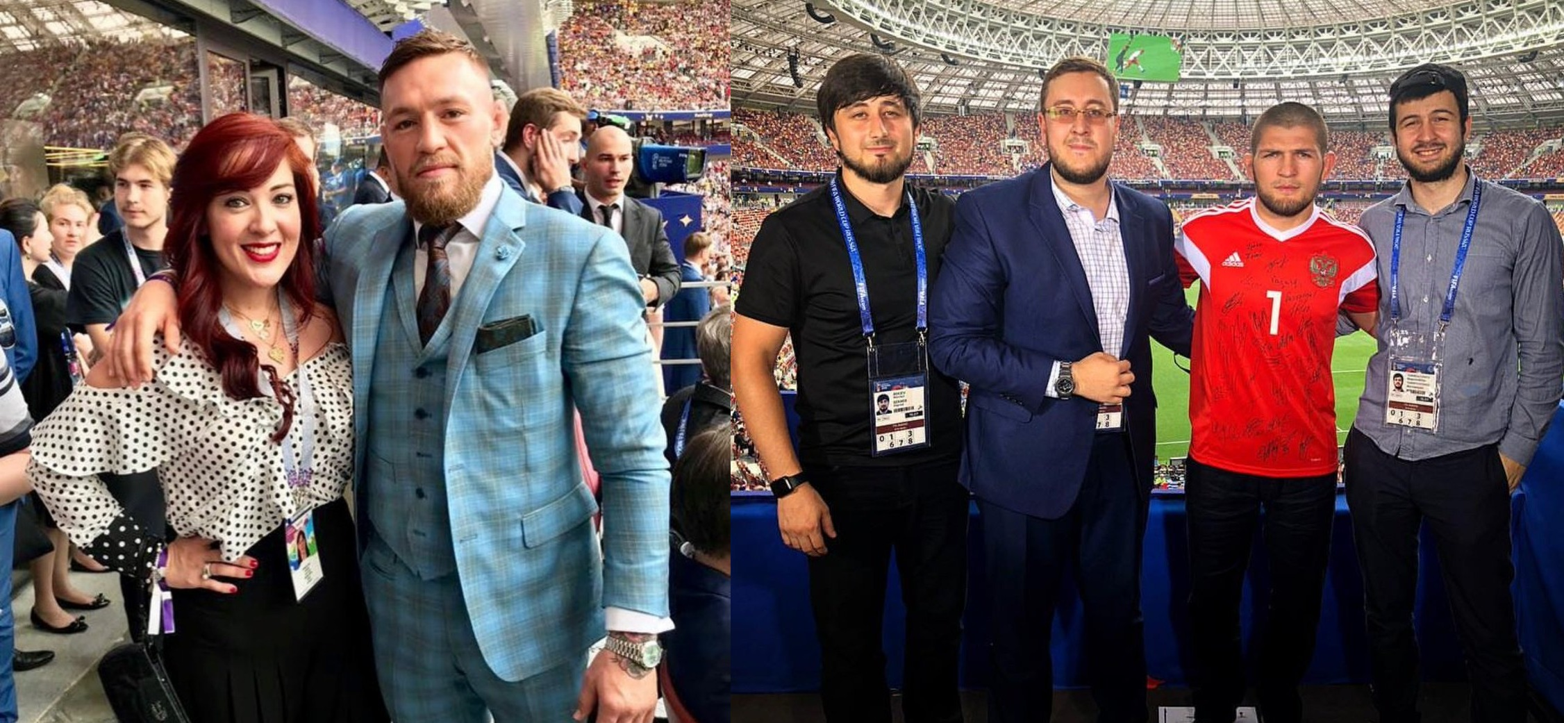 UFC: Conor McGreror and Khabib Nurmagomedov are both in Moscow to watch the world cup finals - FIFA