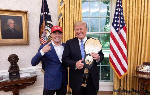 Colby Covington meets President Donald Trump -