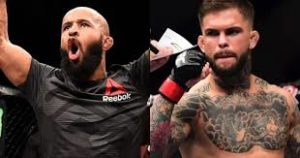 Mighty Mouse and Cody Garbrandt weighed the same inside the cage - Cody Garbrandt