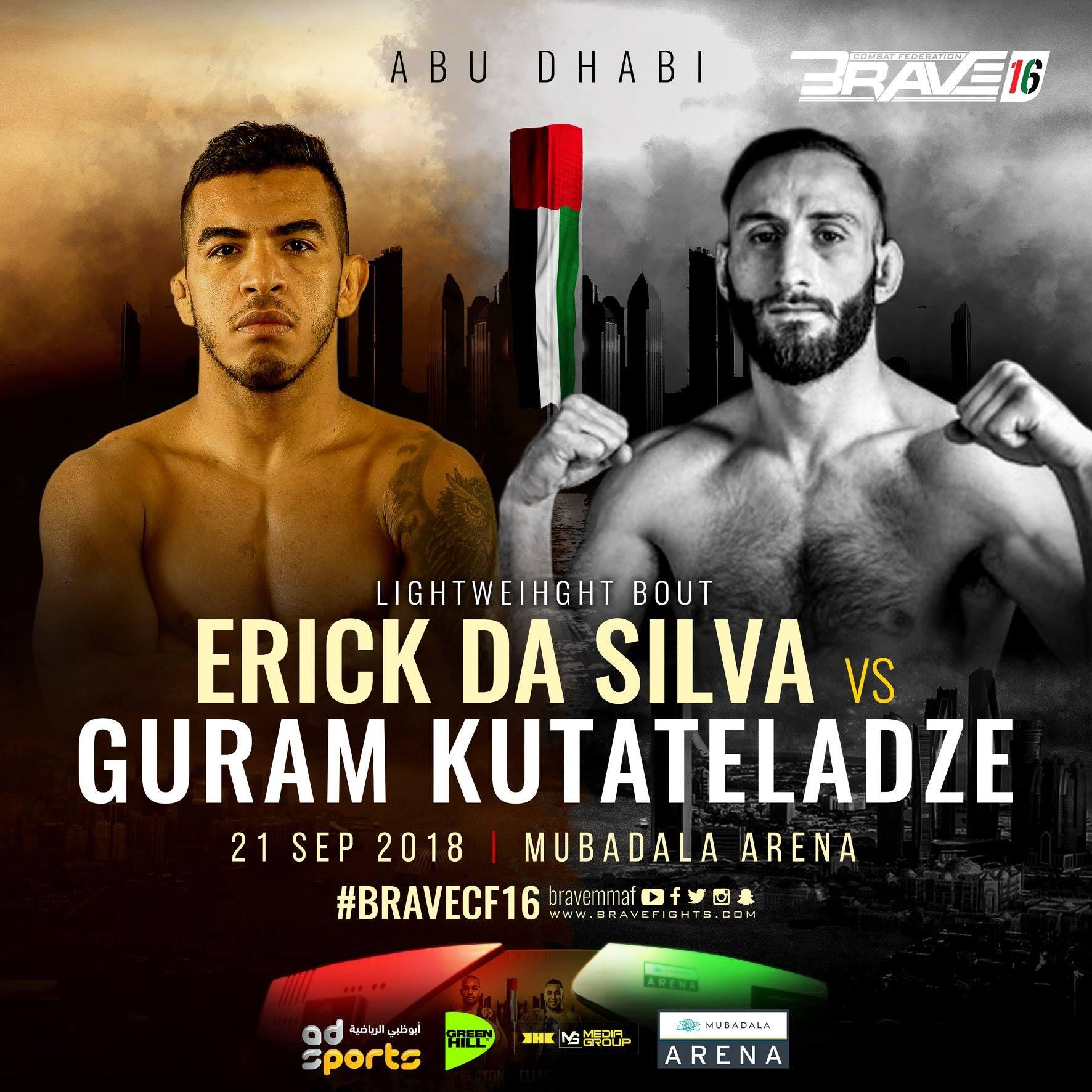 Erick da Silva to face Guram Kutateladze at Brave 16 - Brave 16