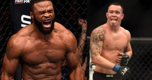 Tyron Woodley and Colby Covington