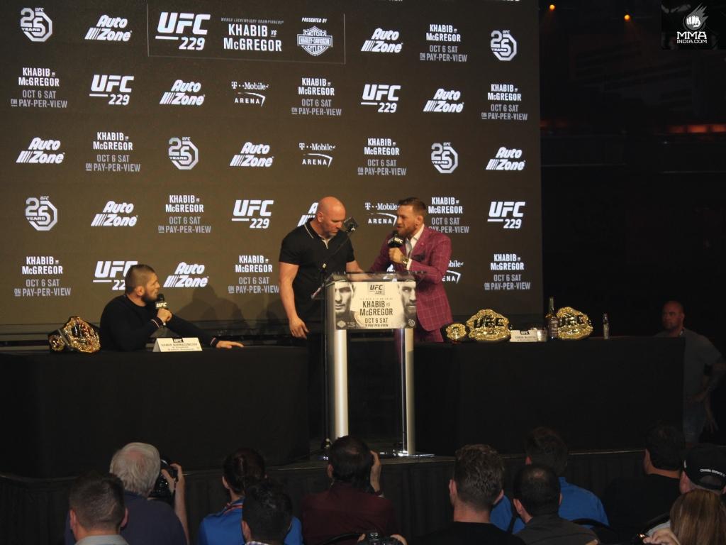 """Dana White's reaction to the UFC 229 presser: """"It was dark man!"""" - ufc"""