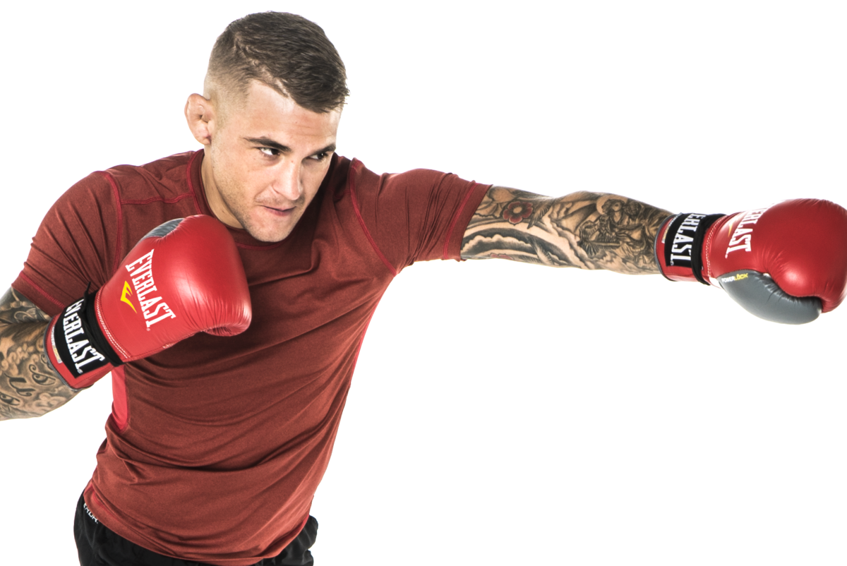 Dustin Poirier in slick ad with Deontay Wilder and Mikaela Meyer - dustin
