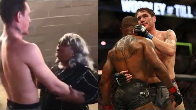 Tyron Woodley's mother consoles and hugs Darren Till backstage in a heartwarming moment - Till