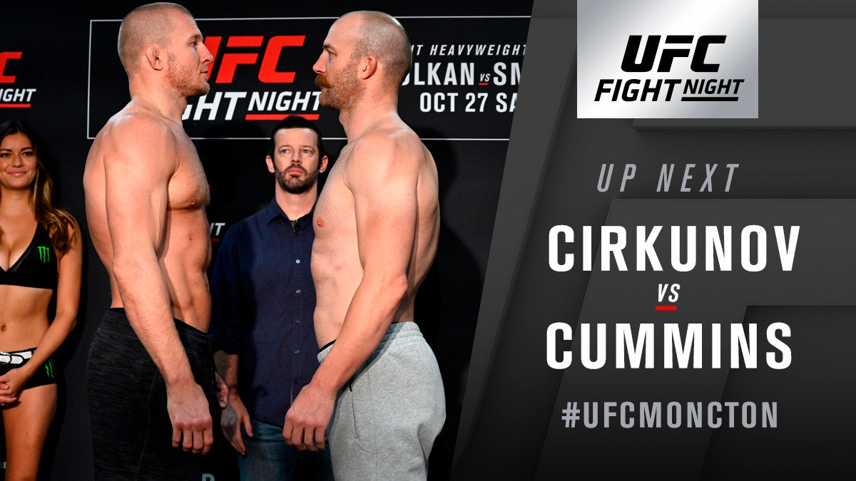 UFC Fight Night 138 Oezdemir vs. Smith Results: Cirkunov Submits Cummins in the First -