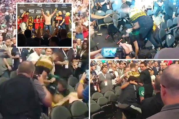 Fans fight outside T-Mobile Arena in Las Vegas after UFC 229 fight - UFC