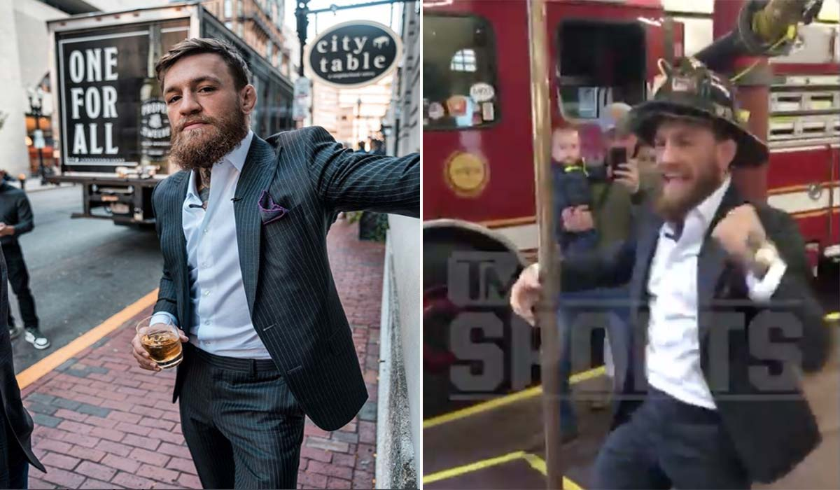 Conor McGregor and firefighters donate World Series tickets to children suffering from burn injuries - Series