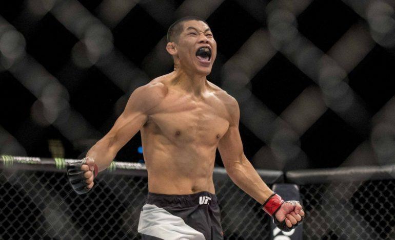 UFC Fight Night 141 Results - Jingliang Stops Zawada with a Side Kick. Wins via TKO - Jingliang