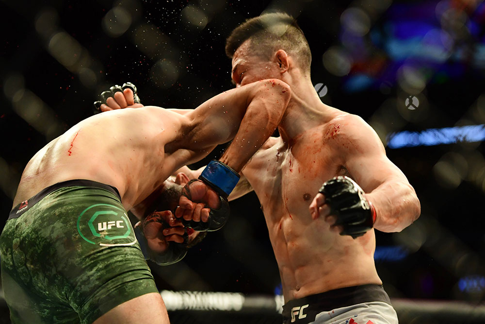 Twitter reacts to Yair Rodriguez' last second elbow KO of Korean Zombie - Rodriguez