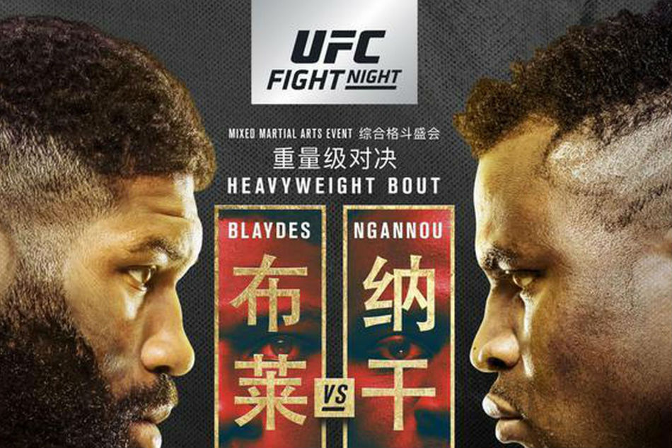 UFC Fight Night 141 takes place on Sunday at The Cadillac Arena in Beijing -