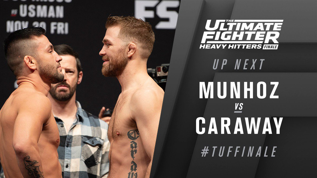 The Ultimate Fighter 28 Finale Results - Pedro Munoz Makes Quick Work of Caraway, Wins via TKO -