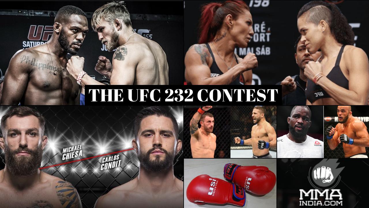THE UFC 232 CONTEST -