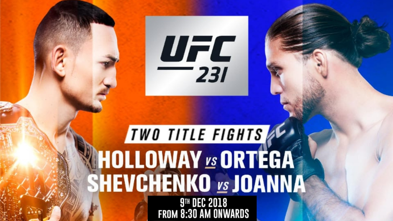 UFC 231 - Featuring the much anticipated Featherweight Title Bouts -