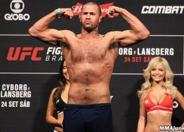 Eric Spicely during the weigh in prior to UFC Fight Night 95