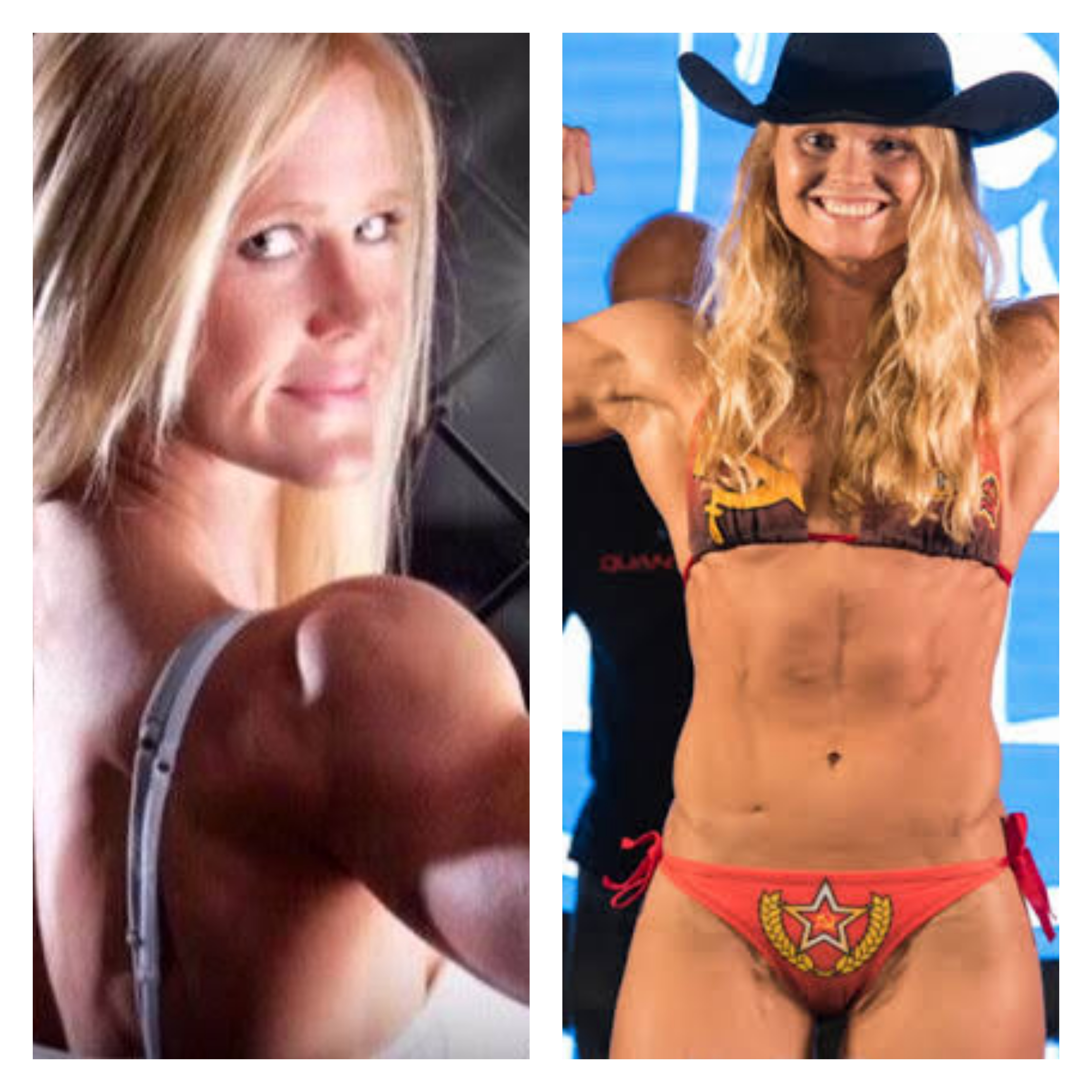 Holly Holm and Aspen Ladd