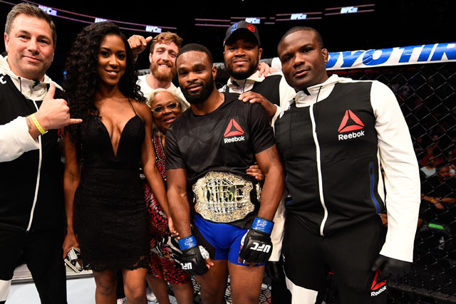 Tyron Woodley may be fighting Kamaru Usman next - but his coach wants him to fight Colby Covington - Tyron