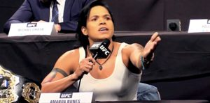 Watch: Women's MMA GOAT Amanda Nunes struggles....against a pair of jeans! - Amanda Nunes