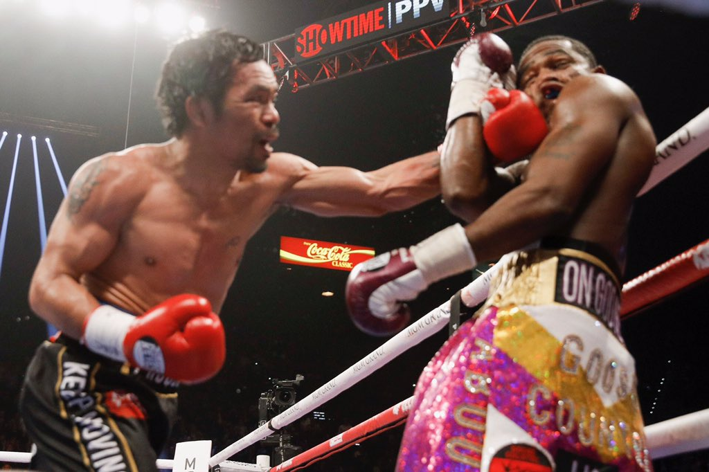 Manny Pacquiao comfortably outpoints Adrien Broner to retain his welterweight title - Adrien