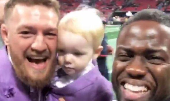 Watch: Kevin Hart runs into Conor McGregor at the Super Bowl - Conor
