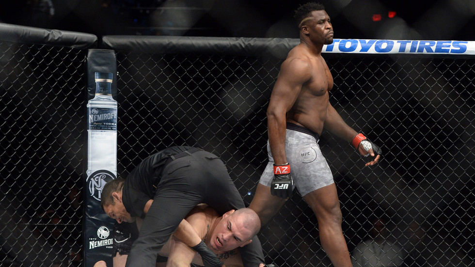 Twitter reacts to devastating knockout win of Francis Ngannou over Cain Velasquez - Francis